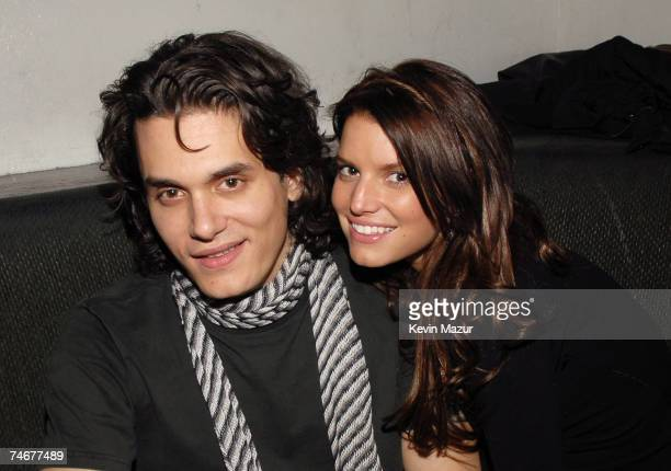 John Mayer and Jessica Simpson at the Stereo in New York City New York