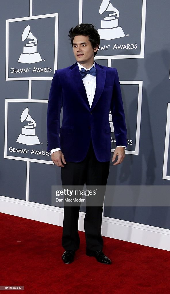 John Mayer arrives at the 55th Annual Grammy Awards at the Staples Center on February 10, 2013 in Los Angeles, California.