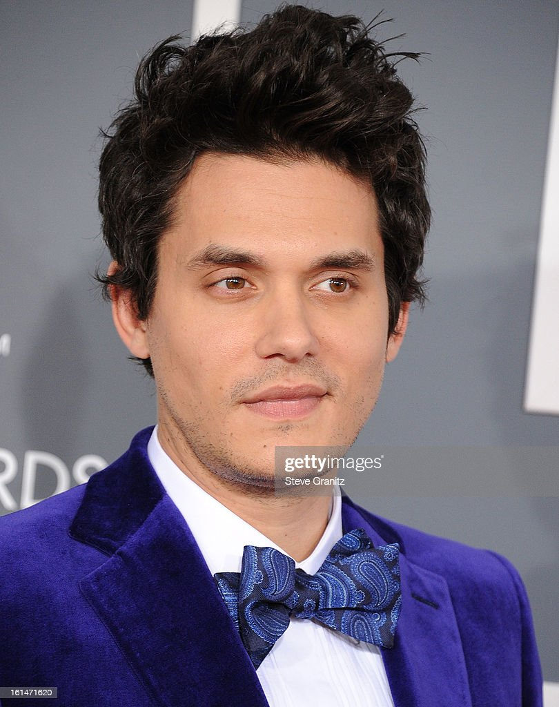John Mayer arrives at the The 55th Annual GRAMMY Awards on February 10, 2013 in Los Angeles, California.