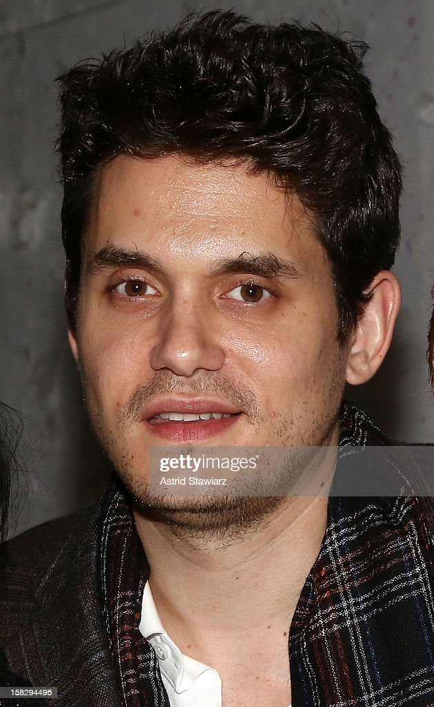 <a gi-track='captionPersonalityLinkClicked' href=/galleries/search?phrase=John+Mayer&family=editorial&specificpeople=201930 ng-click='$event.stopPropagation()'>John Mayer</a> attends 'A Christmas Story, The Musical' Broadway Performance at Lunt-Fontanne Theatre on December 12, 2012 in New York City.