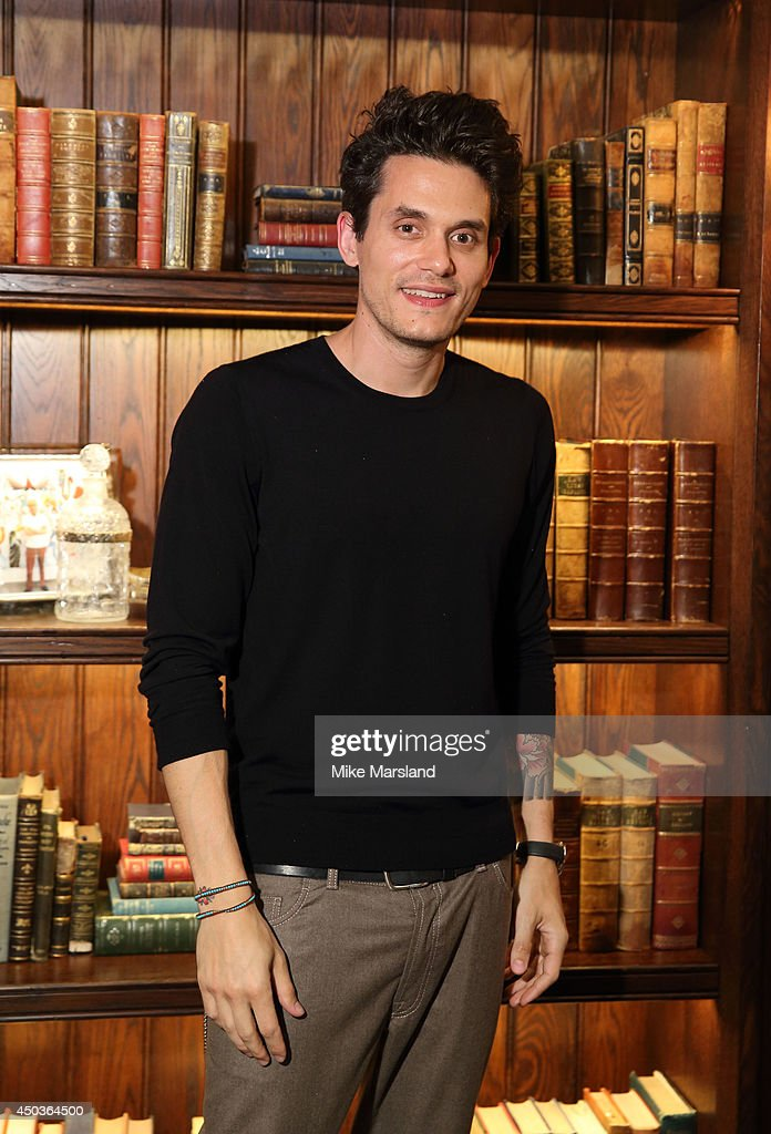 <a gi-track='captionPersonalityLinkClicked' href=/galleries/search?phrase=John+Mayer&family=editorial&specificpeople=201930 ng-click='$event.stopPropagation()'>John Mayer</a> attends a private event at Scarfes Bar, Rosewood London, following his performance at The 02 Arena. At the Rosewood London on June 9, 2014 in London, England.