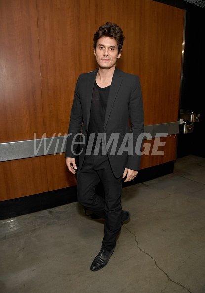 John Mayer backstage during the...