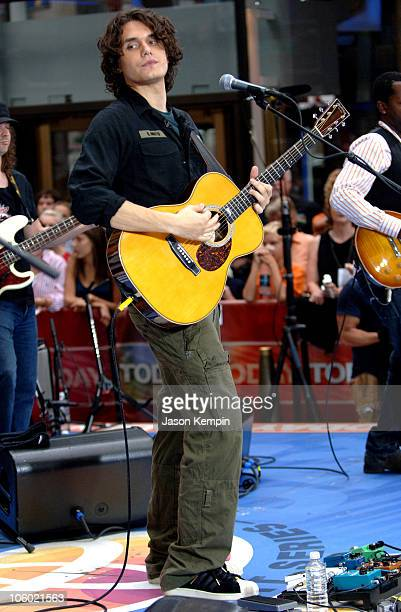 John Mayer during John Mayer Performs on the 'Today Show' August 25 2006 at Rockefeller Center in New York City New York United States