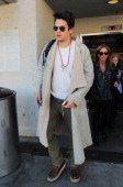 John Mayer is seen at LAX airport on February 01 2014 in Los Angeles California