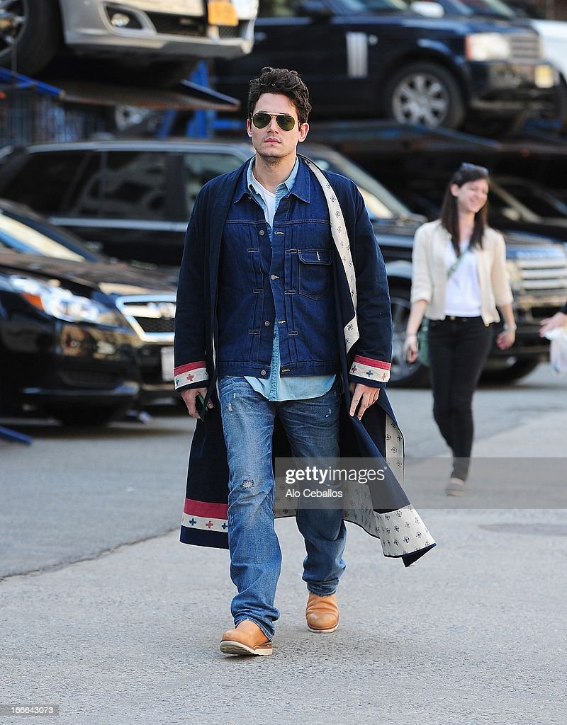 John Mayer is seen in Soho on April 14, 2013 in New York City.