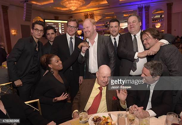 John Mayer John Stamos Queen Latifah Bob Saget Jim Gaffigan Don Rickles Jimmy Kimmel Jeff Garlin and Jack Black attend the 'Cool Comedy Hot Cuisine'...