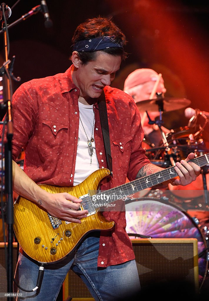 John Mayer of Dead & Company performs at American Express Presents: AMEX UNSTAGED Featuring Dead & Company Directed By Brett Ratner at Madison Square Garden on November 7, 2015 in New York City.