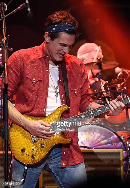 John Mayer of Dead Company performs at American Express Presents AMEX UNSTAGED Featuring Dead Company Directed By Brett Ratner at Madison Square...