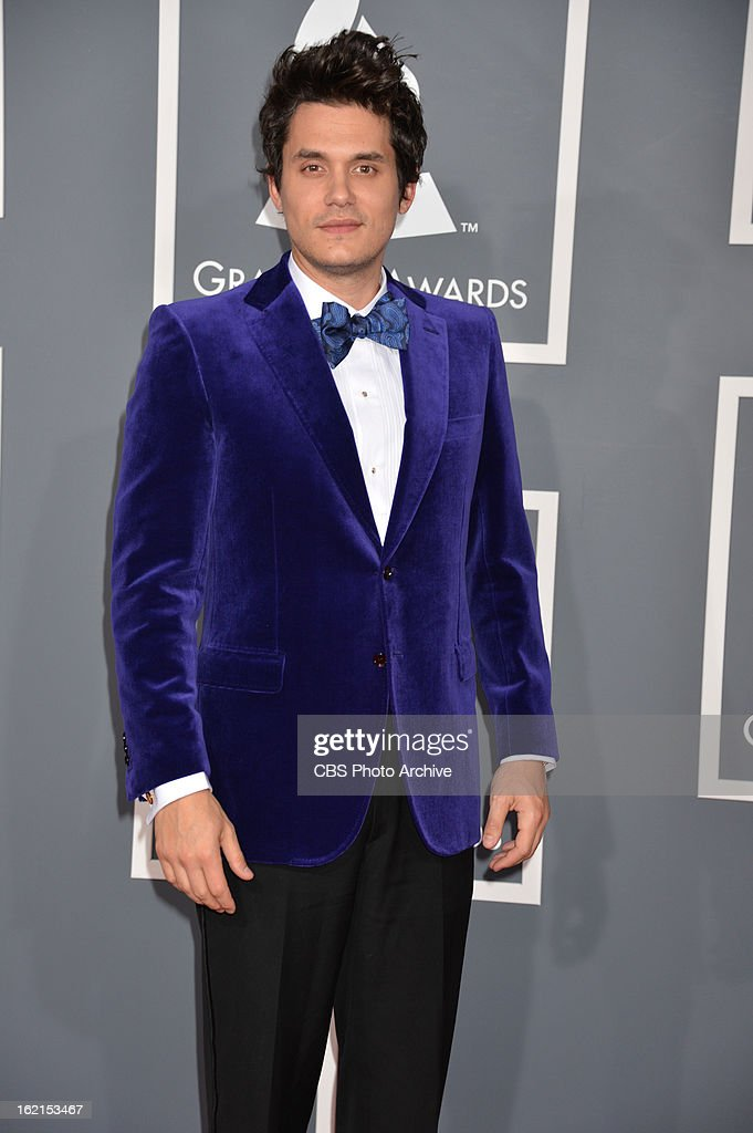 John Mayer on the red carpet at THE 55TH ANNUAL GRAMMY AWARDS. The music industry's premier event will take place Sunday, Feb. 10 (8:00-11:30 PM, live ET/delayed PT), at STAPLES Center in Los Angeles, on the CBS Television Network.