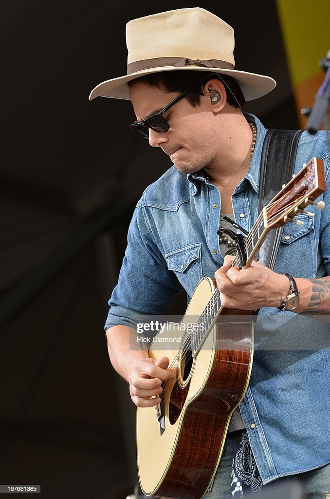 John Mayer performs during the 2013 New Orleans Jazz & Heritage Music Festival presented by Shell at Fair Grounds Race Course on April 26, 2013 in New Orleans, Louisiana.