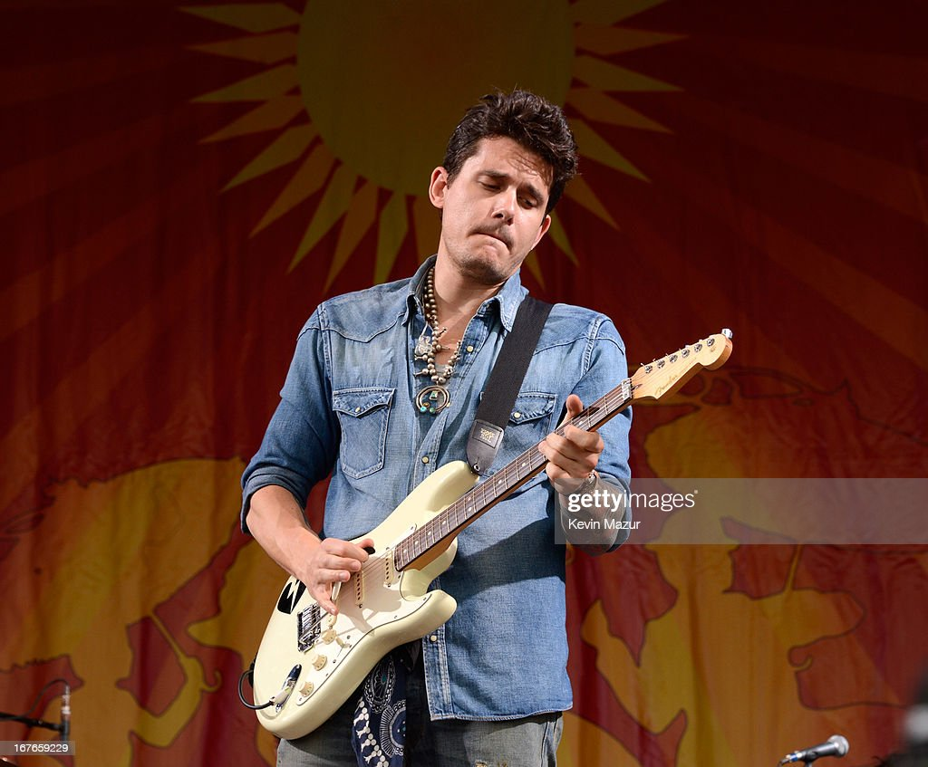 John Mayer performs during the 2013 New Orleans Jazz & Heritage Music Festival at Fair Grounds Race Course on April 26, 2013 in New Orleans, Louisiana.
