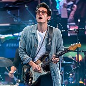 John Mayer performs during the Rock In Rio USA event in Times Square on September 26 2014 in New York City