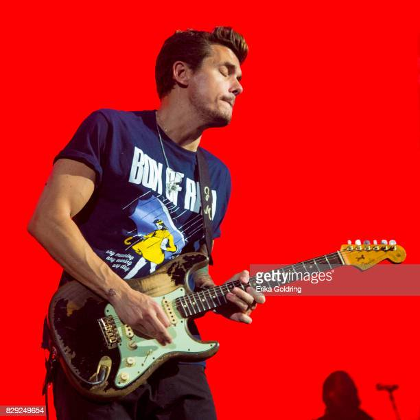 John Mayer performs during The Search For Everything Wolrd Tour at Smoothie King Center on August 9 2017 in New Orleans Louisiana