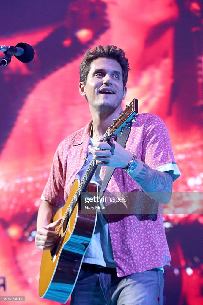 John Mayer performs in concert during his 'Search For Everything' world tour at the AT&T Center on August 3, 2017 in San Antonio, Texas.