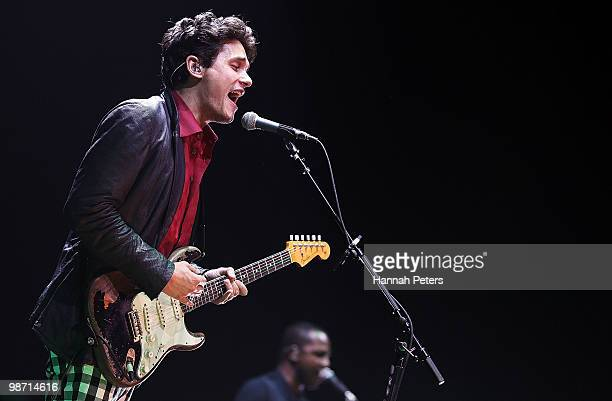 John Mayer performs on stage at Vector Arena on April 28 2010 in Auckland New Zealand
