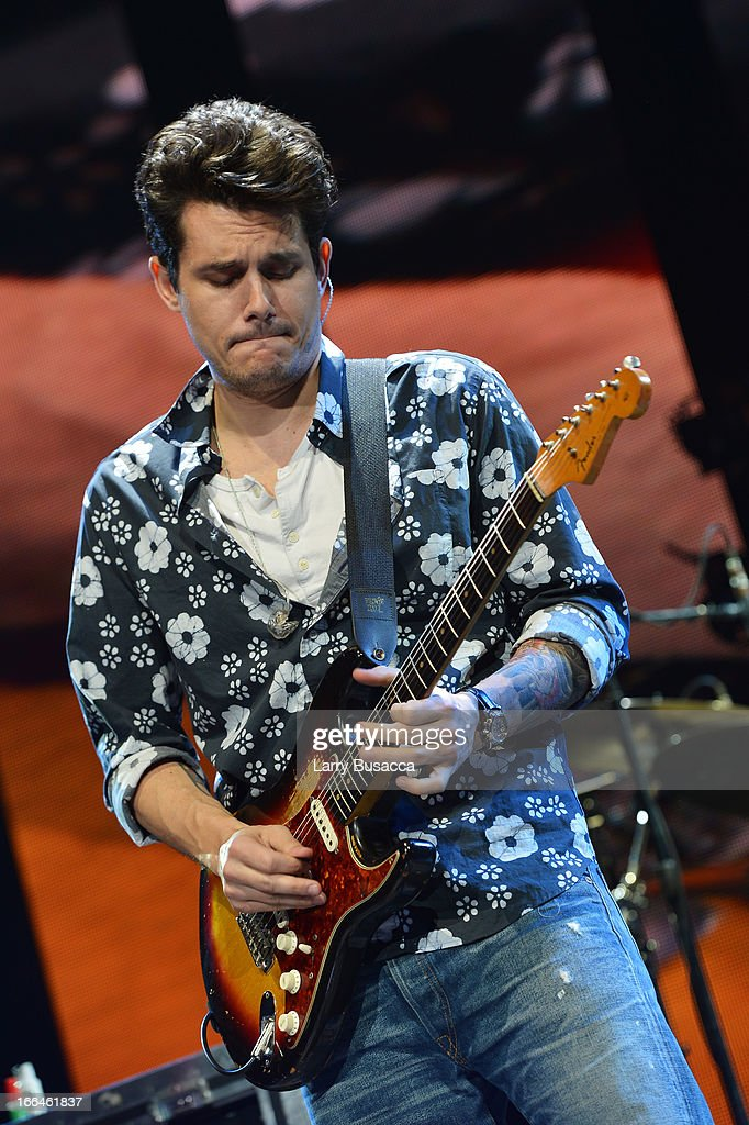 John Mayer performs on stage during the 2013 Crossroads Guitar Festival at Madison Square Garden on April 12, 2013 in New York City.