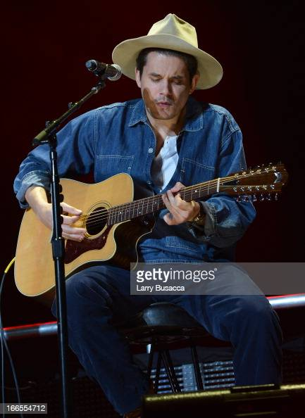 John Mayer performs on stage during the 2013 Crossroads Guitar Festival at Madison Square Garden on April 13 2013 in New York City