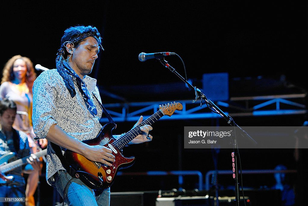 <a gi-track='captionPersonalityLinkClicked' href=/galleries/search?phrase=John+Mayer&family=editorial&specificpeople=201930 ng-click='$event.stopPropagation()'>John Mayer</a> performs with his band at Red Rocks Amphitheatre on July 16, 2013 in Morrison, Colorado.
