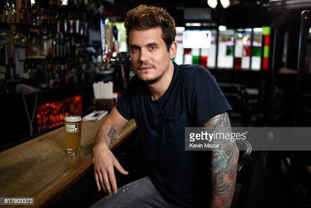 John Mayer prepares for his upcoming Dive Bar Tour with Bud Light on June 27 2017 in New York City