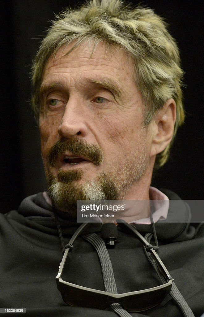 John McAfee participates in a fireside chat at the C2SV Technology Conference Day Three at McEnery Convention Center on September 28, 2013 in San Jose, California.