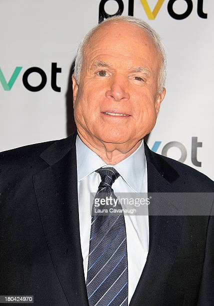 John McCain attends 'Raising McCain' Series New York Premiere at Tribeca Cinemas on September 12 2013 in New York City