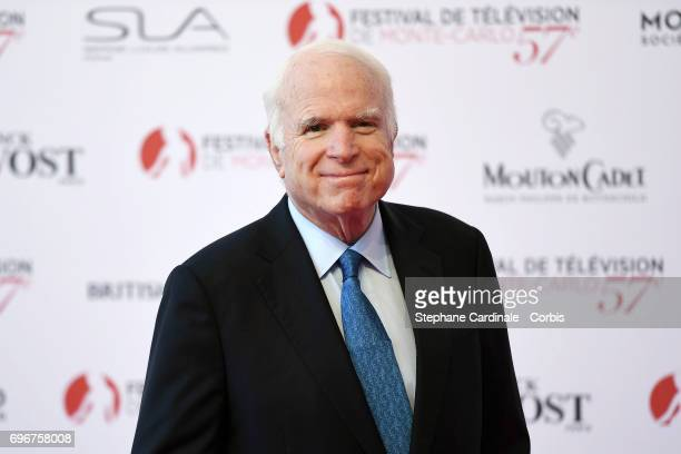 John McCain attends the 57th Monte Carlo TV Festival Opening Ceremony on June 16 2017 in MonteCarlo Monaco