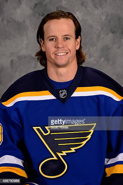 John McCarthy of the St Louis Blues poses for his official headshot for the 20142015 season on September 18 2014 in St Louis Missouri
