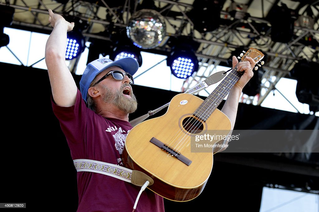 John McCrea of Cake performs during the 2014 Bonnaroo Music & Arts Festival on June 14, 2014 in Manchester, Tennessee.