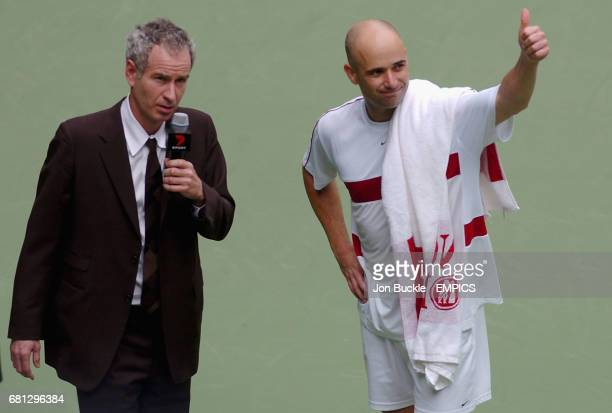 John McEnroe and Andre Agassi