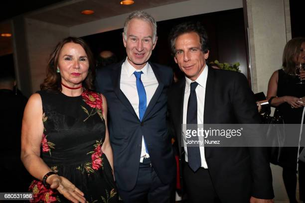 John McEnroe and Ben Stiller during the 44th Chaplin Award Gala Dinner at David H Koch Theater at Lincoln Center on May 8 2017 in New York City