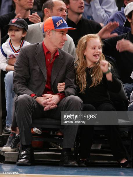 John McEnroe and daughter during Celebrities Attend Indiana Pacers vs New York Knicks Game November 4 2006 at Madison Square Garden in New York City...