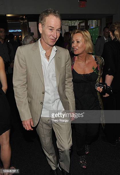 John McEnroe and Dawn McDaniel attend A Bid to Save the Earth green auction at Christie's on April 22 2010 in New York City