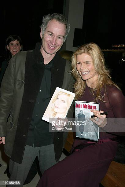 John McEnroe and Mariel Hemingway in Donna Karan during Mariel Hemingway's Book Launch Party for 'Finding My Balance A Memoir' at Donna Karan store...