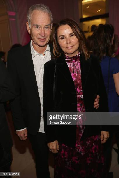 John McEnroe and Patty Smyth attend Museum of the City of New York honors Gloria Steinem Whoopi Goldberg Michiko Kakutani on October 17 2017 in New...
