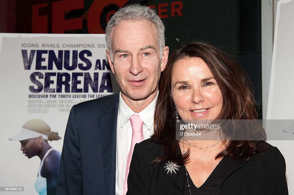 <a gi-track='captionPersonalityLinkClicked' href=/galleries/search?phrase=John+McEnroe&family=editorial&specificpeople=159411 ng-click='$event.stopPropagation()'>John McEnroe</a> (L) and <a gi-track='captionPersonalityLinkClicked' href=/galleries/search?phrase=Patty+Smyth+-+Lead+Singer+of+Scandal&family=editorial&specificpeople=213159 ng-click='$event.stopPropagation()'>Patty Smyth</a> attend the 'Venus And Serena' screening at IFC Center on May 2, 2013 in New York City.