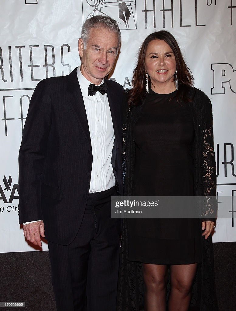 John McEnroe and singer Patty Smyth attends the 2013 Songwriters Hall Of Fame Gala at Marriott Marquis Hotel on June 13, 2013 in New York City.