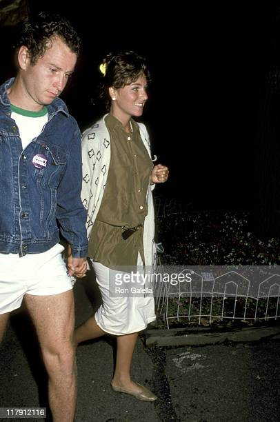 John McEnroe and Tatum O'Neal during US Open September 8 1985 at Flushing Meadows in Queens New York United States