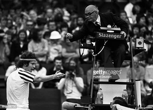 John McEnroe Argues with the Umpire at Wimbledon in 1980