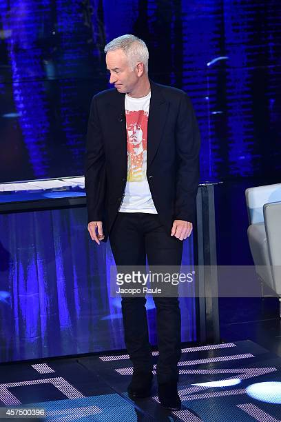 John McEnroe attends 'Che Tempo Che Fa' Italian Tv Show on October 16 2014 in Milan Italy