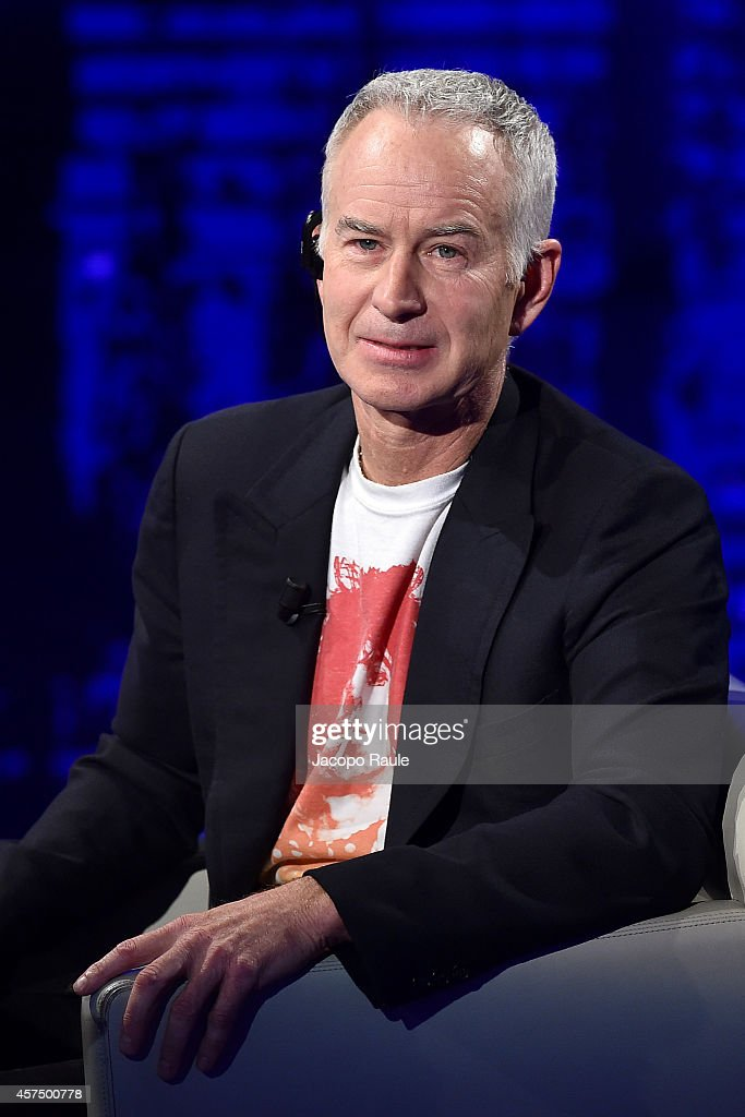 <a gi-track='captionPersonalityLinkClicked' href=/galleries/search?phrase=John+McEnroe&family=editorial&specificpeople=159411 ng-click='$event.stopPropagation()'>John McEnroe</a> attends 'Che Tempo Che Fa' Italian Tv Show on October 16, 2014 in Milan, Italy.