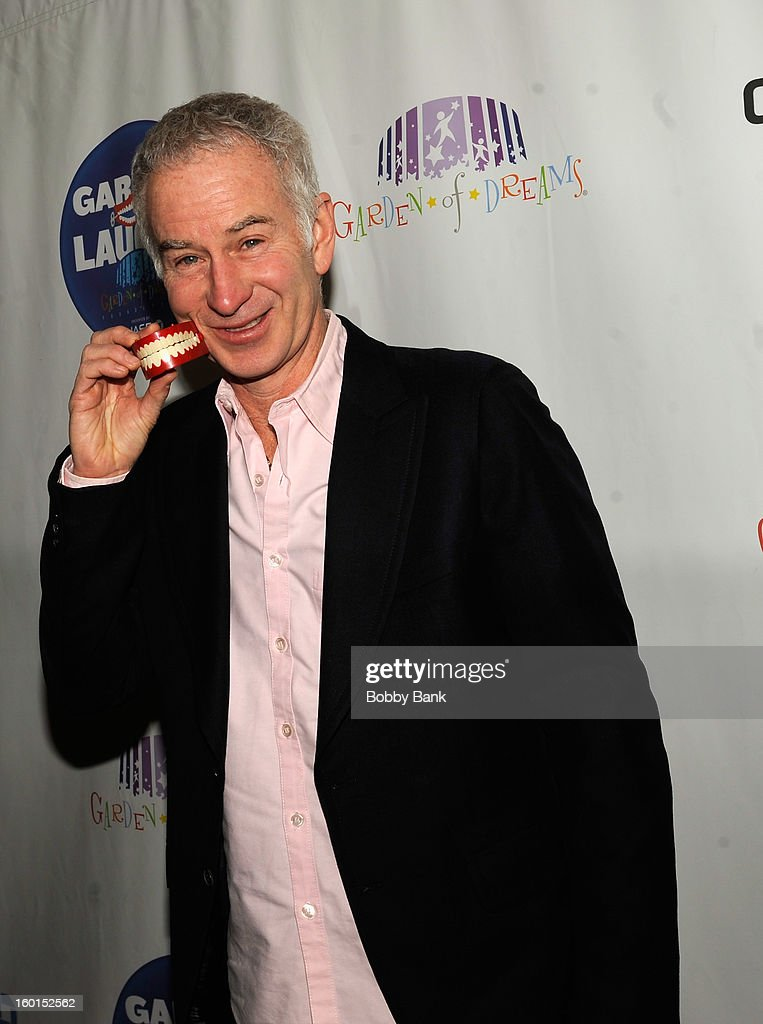 John McEnroe attends 'Garden Of Laughs' Benefit at Madison Square Garden on January 26, 2013 in New York City.