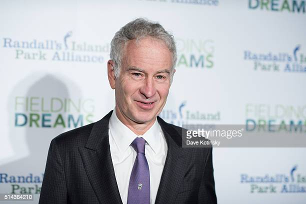 John McEnroe attends the 2016 Randall's Island Park Alliance Fielding Dreams Gala at American Museum of Natural History on March 8 2016 in New York...