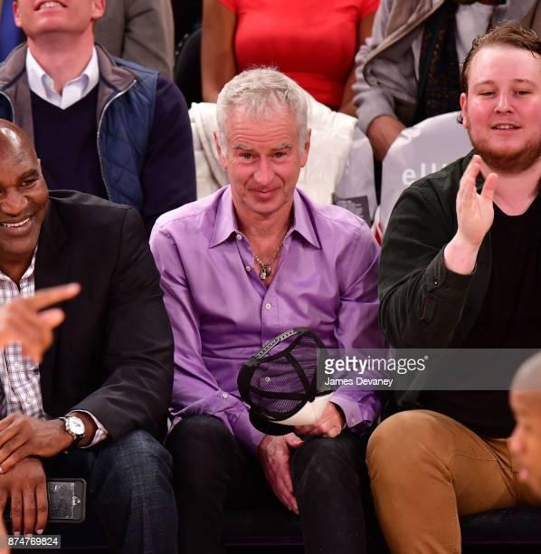 John McEnroe attends the Utah Jazz Vs New York Knicks game at Madison Square Garden on November 15 2017 in New York City