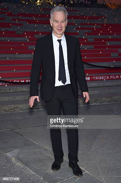 John McEnroe attends the Vanity Fair Party during the 2015 Tribeca Film Festival at the New York State Supreme Court Building on April 14 2015 in New...