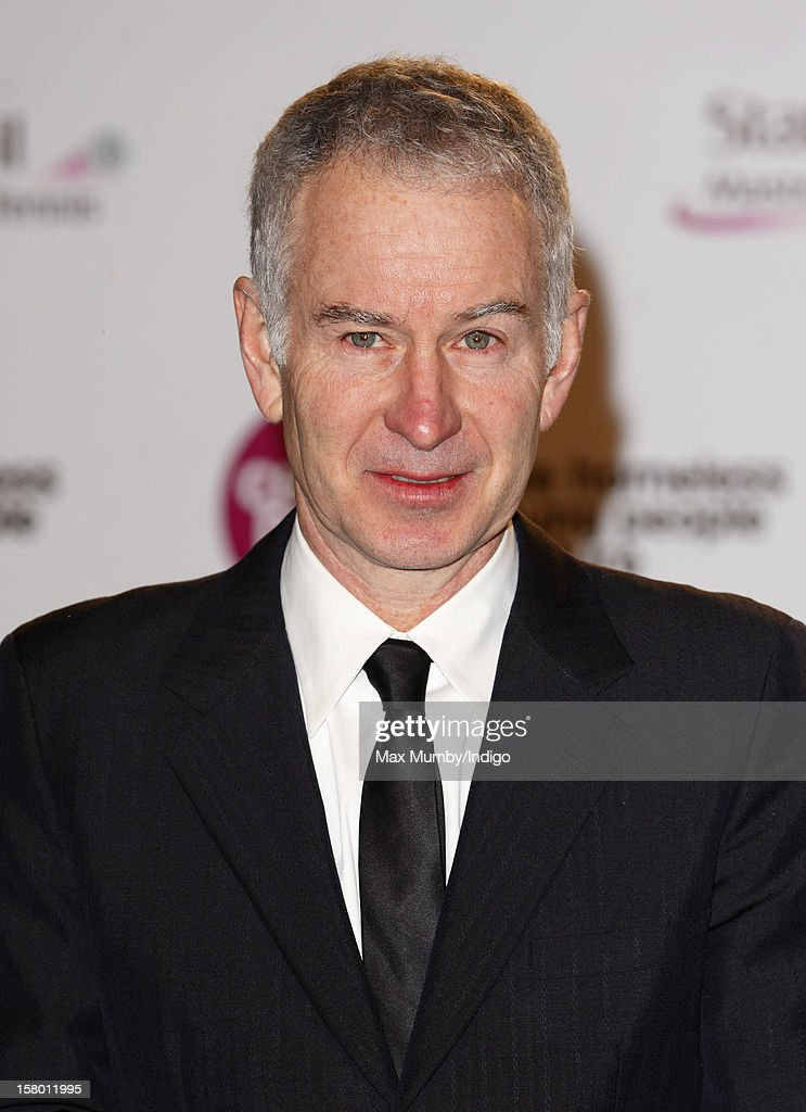 John McEnroe attends the Winter Whites Gala, in aid of homeless charity Centrepoint, at The Royal Albert Hall on December 08, 2012 in London, England.