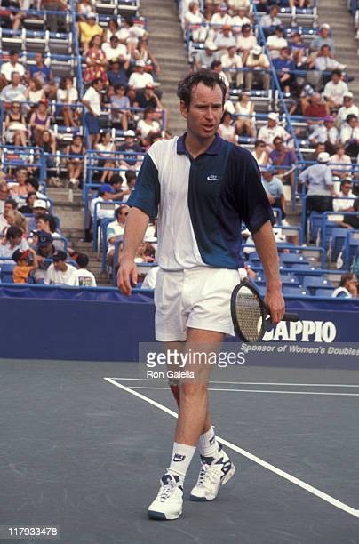 John McEnroe during 1992 US Open Tennis Championship September 9 1992 at Flushing Meadow Park in New York City New York United States
