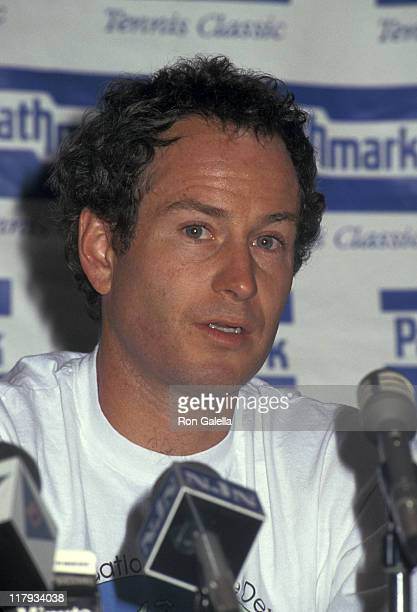 John McEnroe during Pathmark Tennis Classic to Benefit the Safe Passage Foundation July 18 1993 at Crossroads Corporate Center in New York City New...