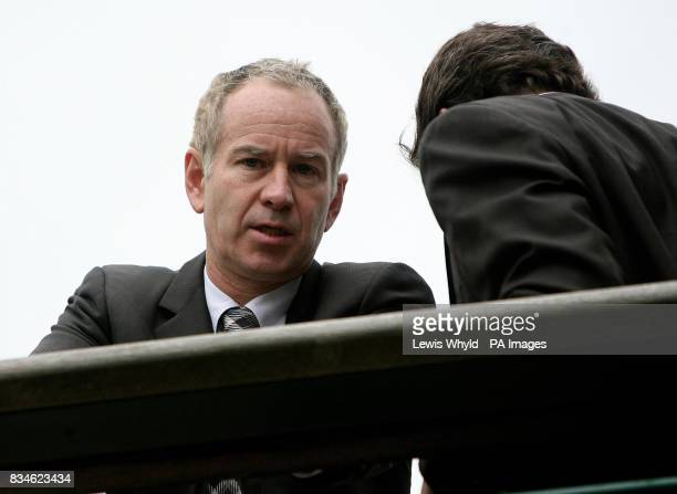 John McEnroe during the Wimbledon Championships 2008 at the All England Tennis Club in Wimbledon