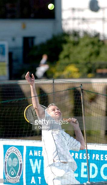 John McEnroe during Wimbledon on Water Photocall at The River Thames in London Great Britain