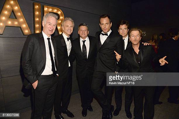 John McEnroe John Sykes Will Arnett Jason Bateman and David Spade attend the 2016 Vanity Fair Oscar Party Hosted By Graydon Carter at the Wallis...